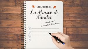 🇫🇷 📖 DICTEE n°3 – «La Maison de Nándor» spéciale CHEZ et vocabulaire de la Maison